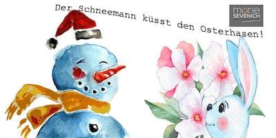 Fototraining Blickwinkel - Der Schneemann küsst den Osterhasen!