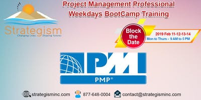 PMP weekdays Online Bootcamp for San Bernardino-Feb-11,12,13,14,2019