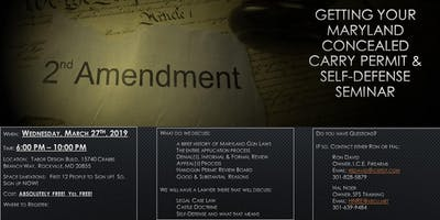 Maryland Concealed Carry Permit, Legal, & Self-Defense Seminar