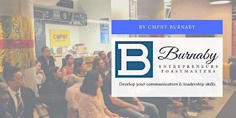 Burnaby Entrepreneurs Toastmasters Weekly Meeting tickets