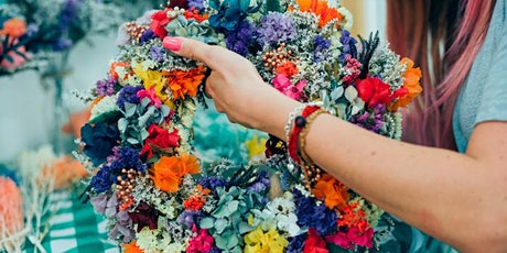 Mothers Day Dried Flower Spring Wreath making workshop - Mama Shelter London tickets