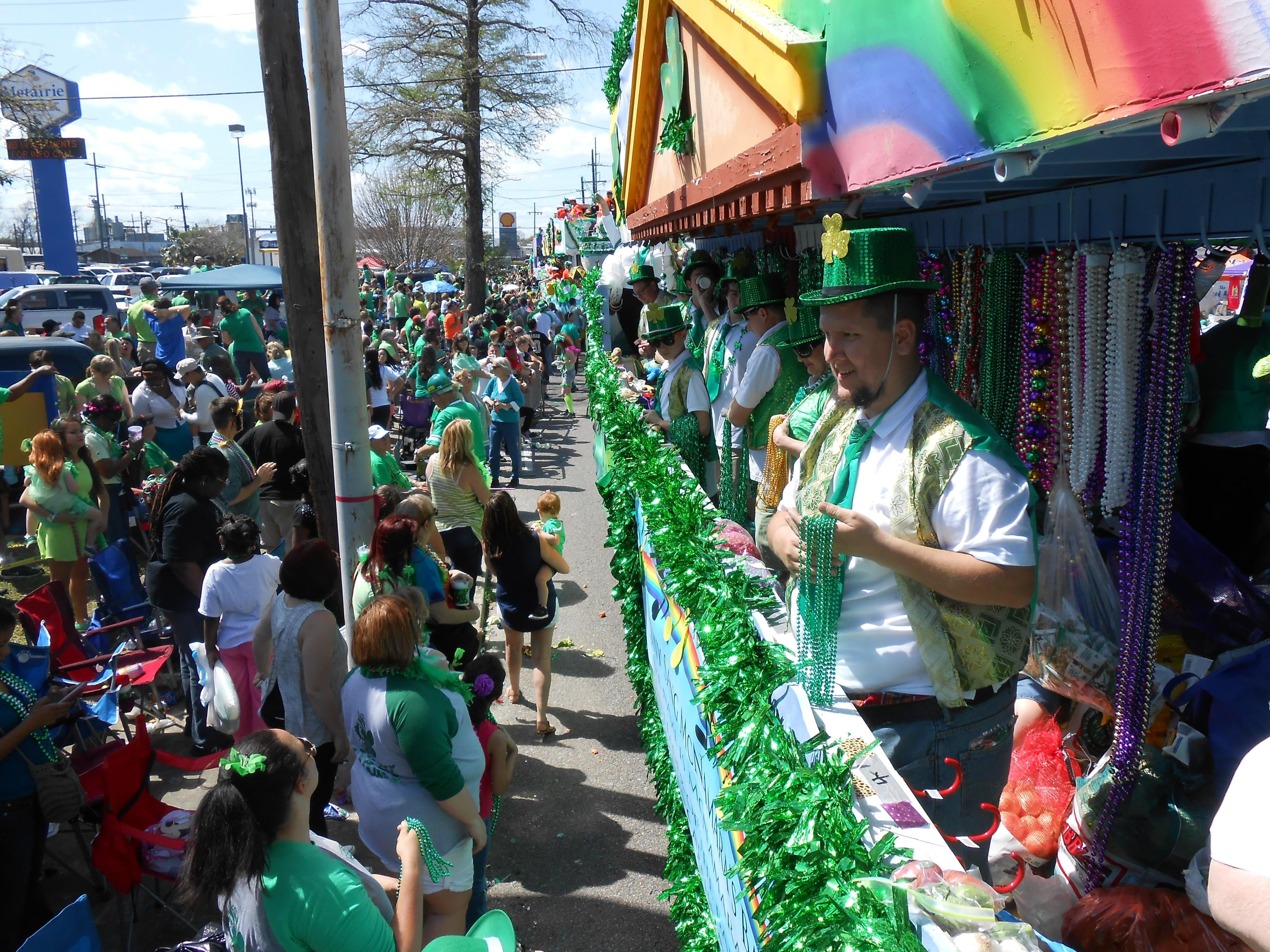 St. Patrick's Parade Metairie Road Float Ride