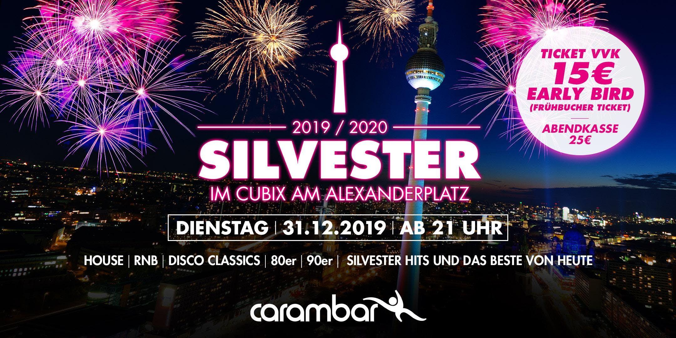 Silvester im Cubix am Alexanderplatz Berlin 20192020