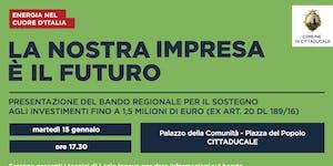 Presentazione Bando Sisma 2018 - Cittaducale