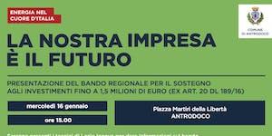 Presentazione Bando Sisma 2018 - Antrodoco