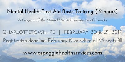 Mental Health First Aid Basic Training - Charlottetown, PE - Feb. 20 & 21, 2019