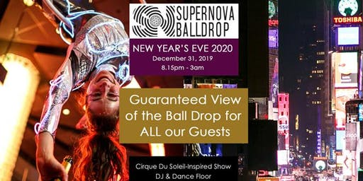 New Year's Eve 2020 with a GUARANTEED direct view of the Ball Drop for ALL OUR GUESTS (Times Square) - December 31, 2019