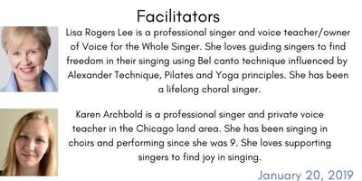 Vocal Freedom for the Choral Singer-January 20th, 3:00-6:00
