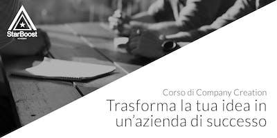 Trasforma la tua idea in un'azienda di successo, Company Creation [Milano]