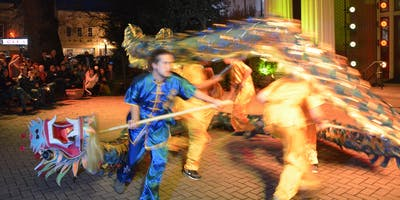 Dragon Dance, Chinese New Year Celebration at Art Crawl