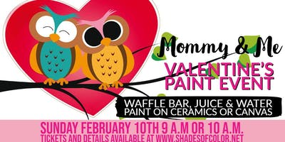 Mommy & Me Valentine Paint Event