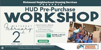 HUD Pre Purchase Homeownership Workshop