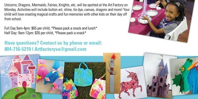 Winter Crafts and Canvas Camp - Magic Fairytale