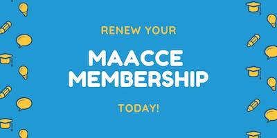 MAACCE 2019-2020 Membership (May 2019-April 2020)