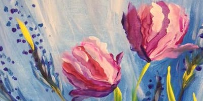 "Paint ""Pink Tulips"" With Our Talented Artists At Art Time And Sip Wine Studios"