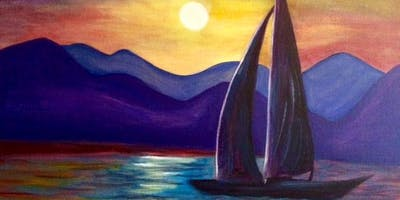 "Paint ""Evening Sail"" With Our Talented Artists At Art Time And Sip Wine Studios"