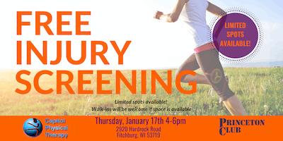 FREE Injury Screen at Princeton Club