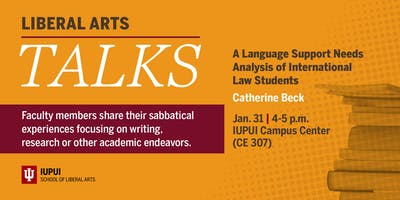 Liberal Arts Talks: Language Support Analysis of International Law Students