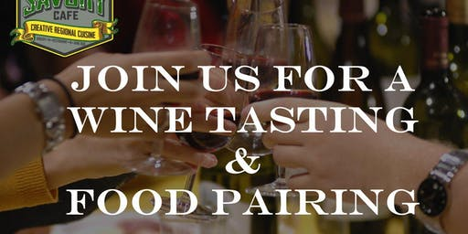 Free Wine Tasting & Optional $25 food pairing - Sweet n Savory Cafe
