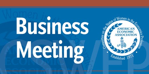 CSWEP 2020 Business Meeting & Award Ceremony Luncheon