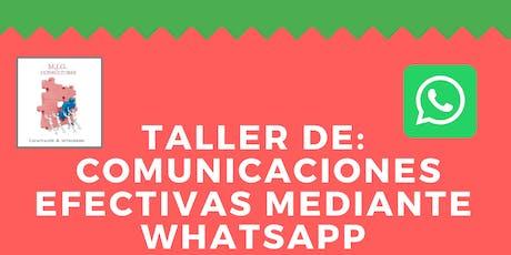 Comunicaciones efectivas mediante WhatsApp #Paraná entradas