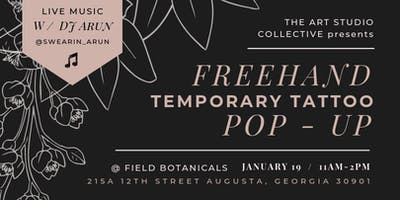 Temporary Tattoo Pop-Up Shop - The Art Studio Collective