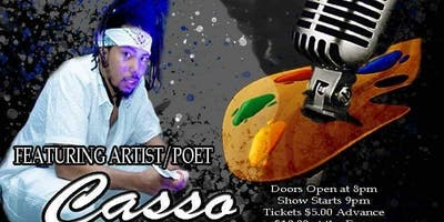 """S2S Poetry presents """"Romantically Feral """" featuring Casso"""