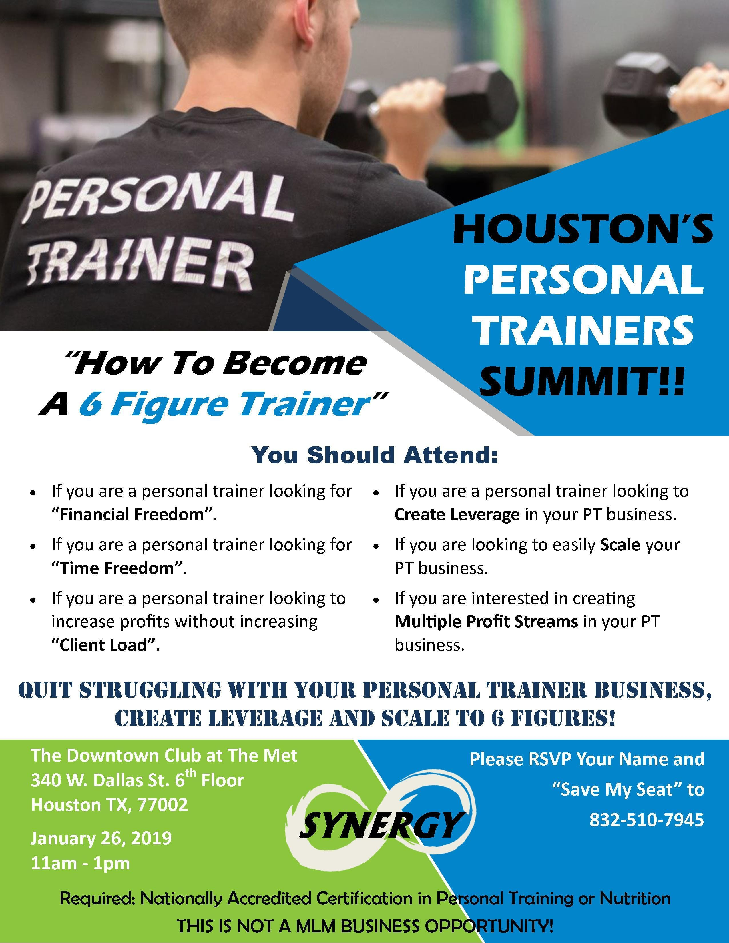 How To Become A 6 Figure Trainer 26 Jan 2019