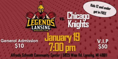 Lansing Legends vs. Chicago Knights