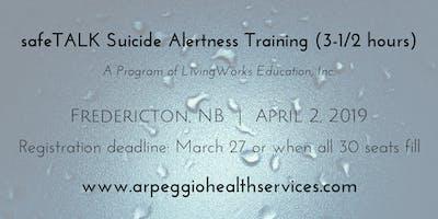 safeTALK Suicide Alertness Training - Fredericton, NB - April 2, 2019