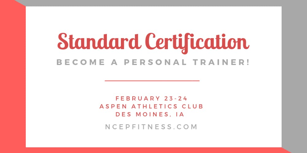 Personal Training Certification Workshop Tickets Sat Feb 23 2019