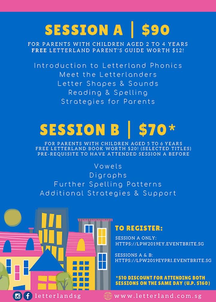 Letterland Parent's Workshop: Sessions A & B image