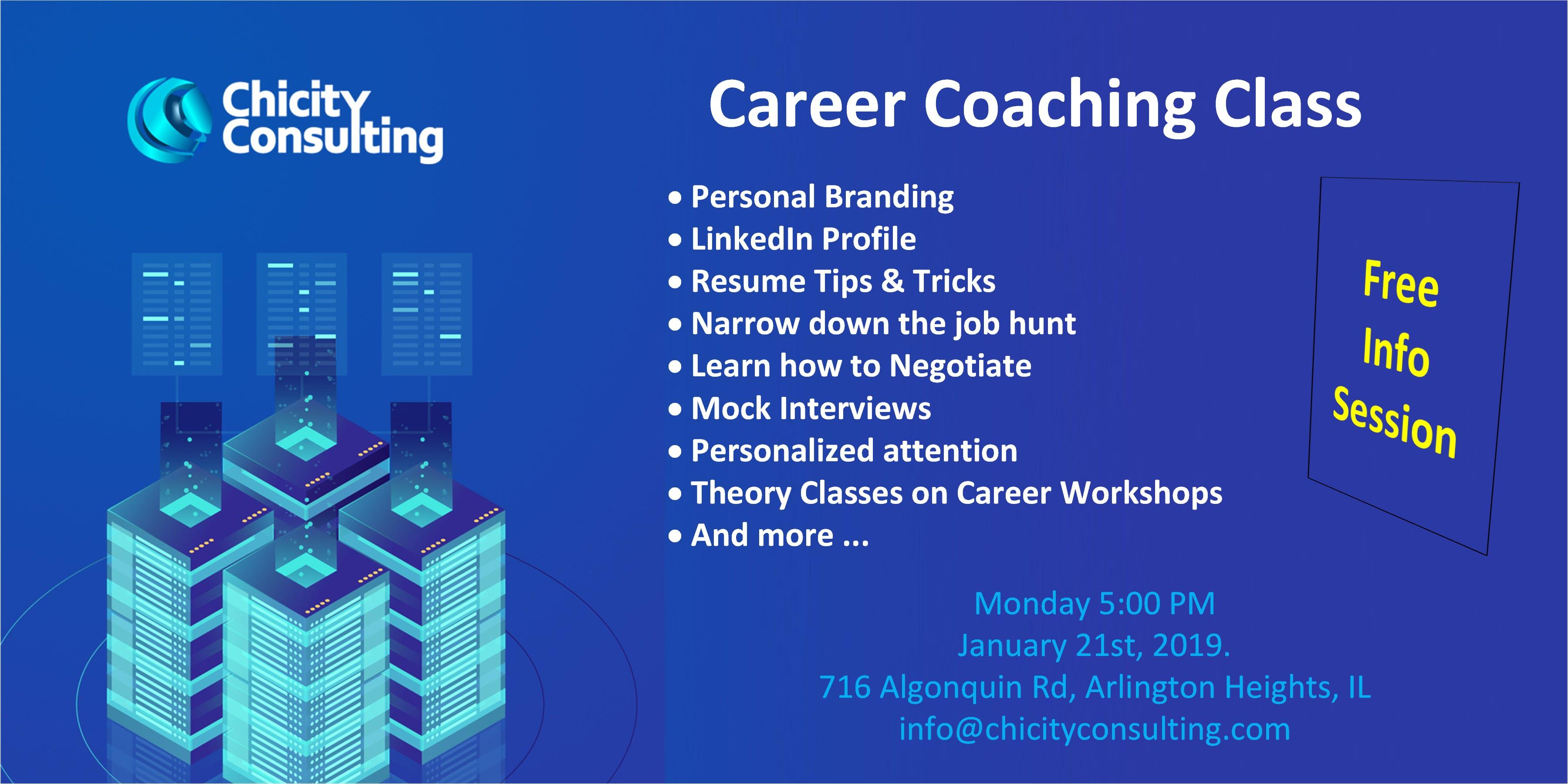 Career Coaching Info Session 21 Jan 2019