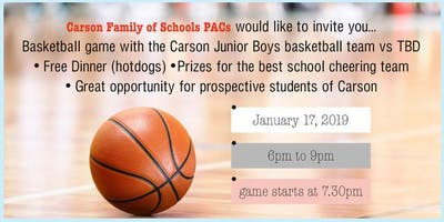 Carson Graham Family of Schools (FOS) Night - Dinner and Basketball Game