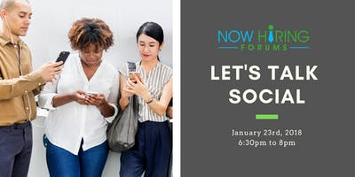 1/23 Now Hiring Vancouver Professional Networking Meet-up - Let's talk social