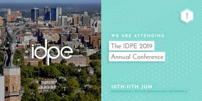 We are exhibiting at #IDPE19!