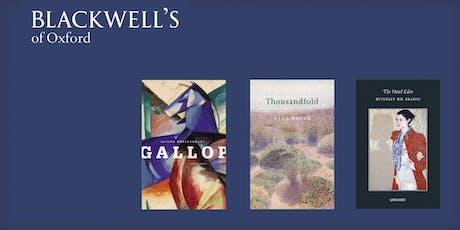 Carcanet Poets - Beverley Bie Brahic, Alison Brackenbury, and Nina Bogin tickets