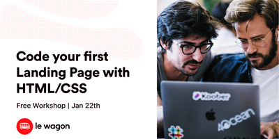 Code your first Landing Page with HTML/CSS - free workshop