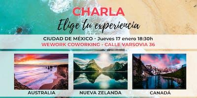 México | Charla ¡Elige tu experiencia! Australia, Canadá y Nueva Zelanda