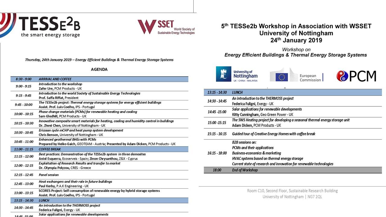 TESSe2b Workshop
