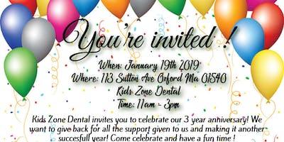 3 Year Anniversary Kids Zone Dental