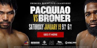 Pacquiao-Broner Boxing @ Legionnaire Oakland