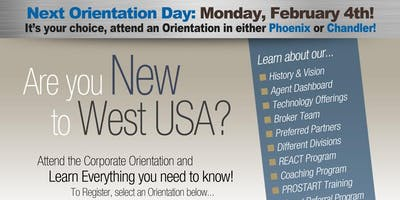 West USA Realty Corporate Orientation - February