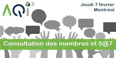 Consultation des membres et 5@7