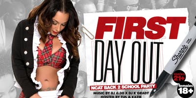 FIRST DAY OUT‼️BACK TO SCHOOL PARTY‼️#Wednesday #FreeEntry #FreeWings