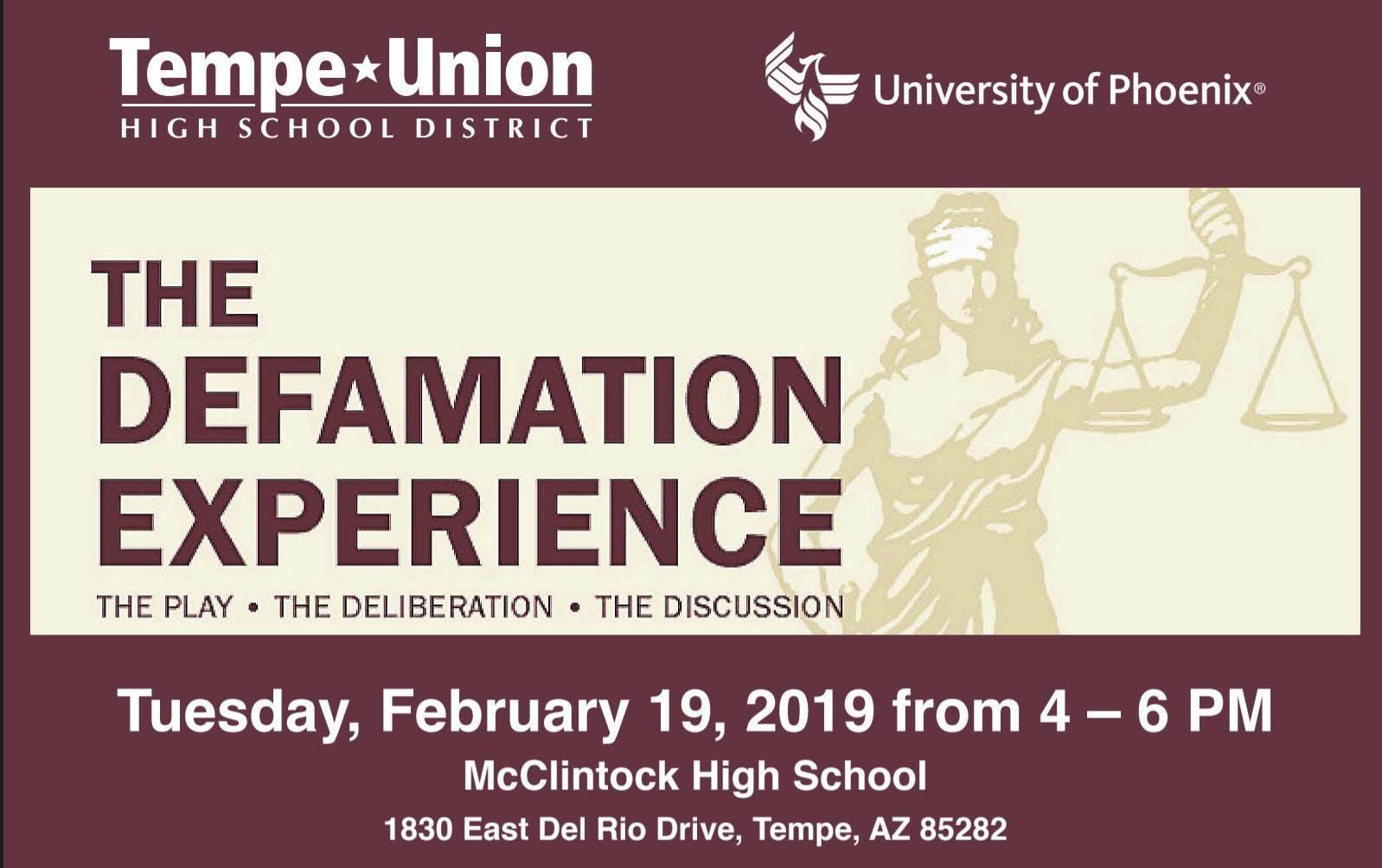 Defamation Experience Diversity Event