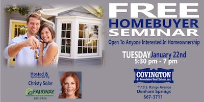 FREE Homebuyer Seminar--for anyone who wants to become a homeowner!