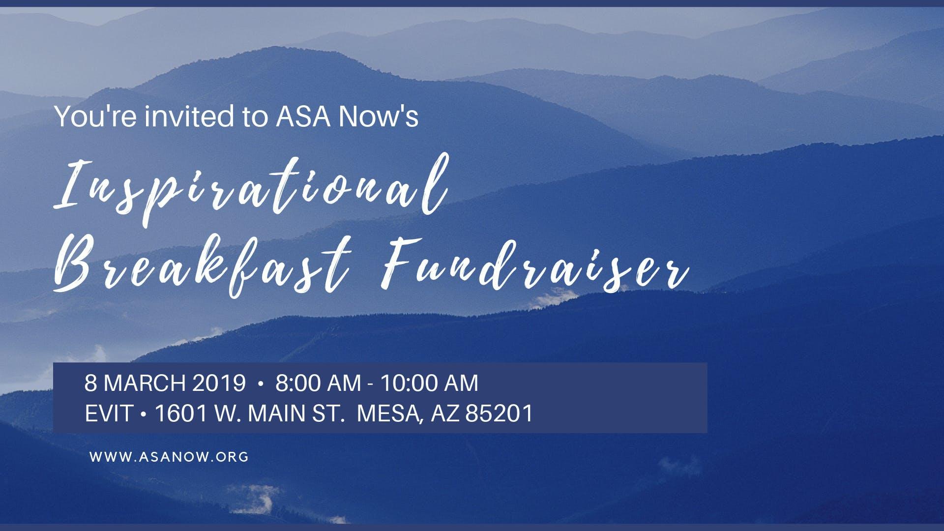 ASA Now Inspirational Breakfast Fundraiser