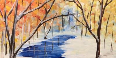 Paint Night ~ Winter Stream