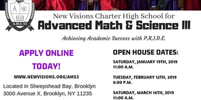 Advanced Math & Science III Open House